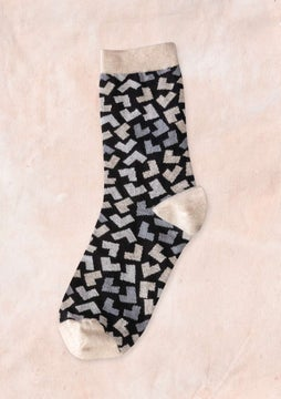Hake socks black