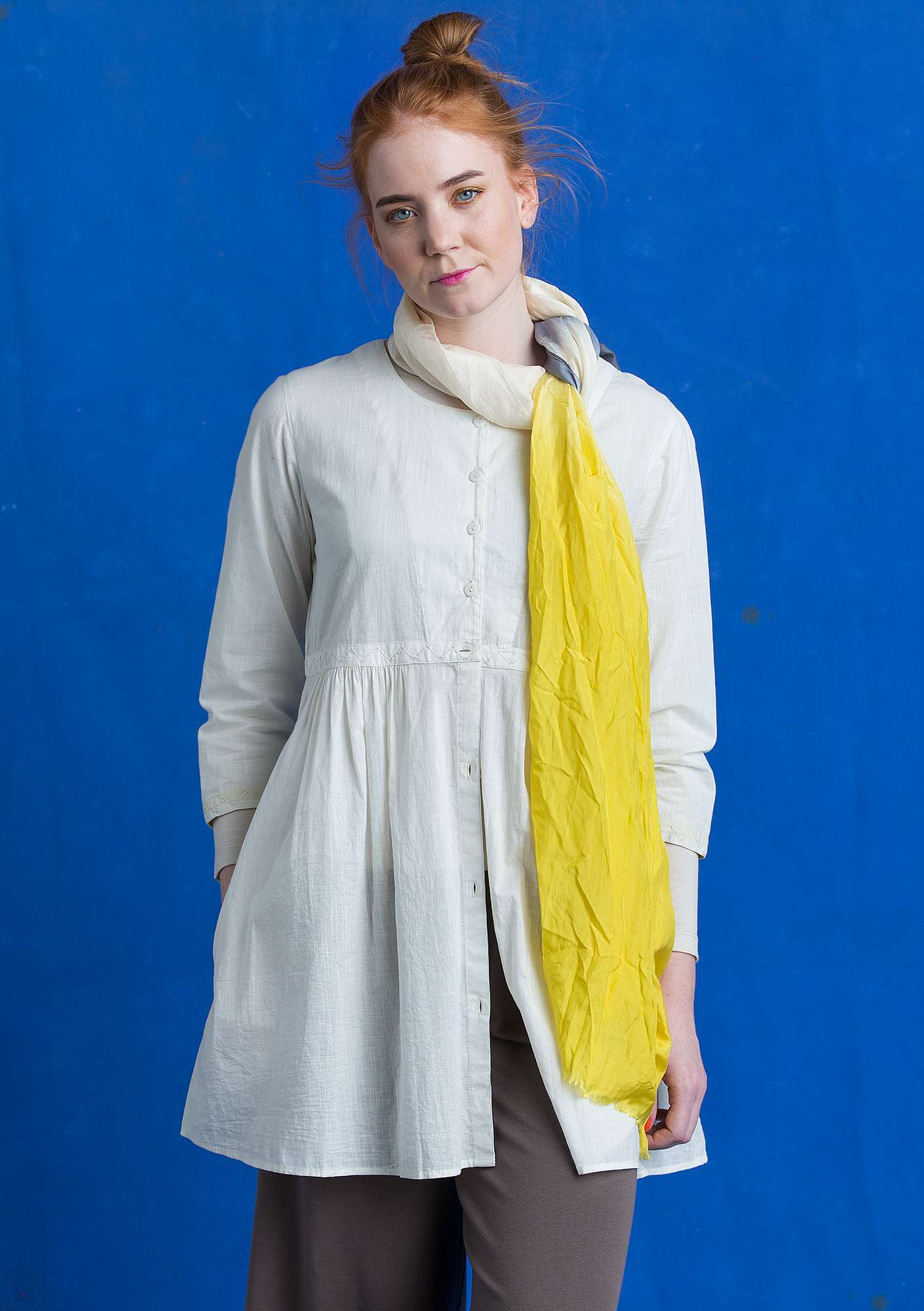 Tunic in eco-cotton ecru