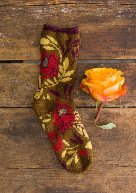 Olga terry socks brass