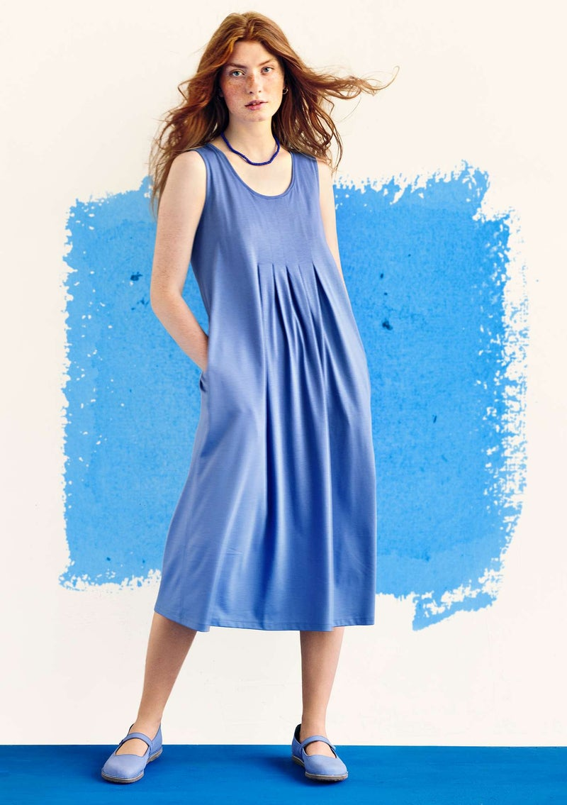 """Himmel"" organic cotton/modal jersey dress  sky blue"