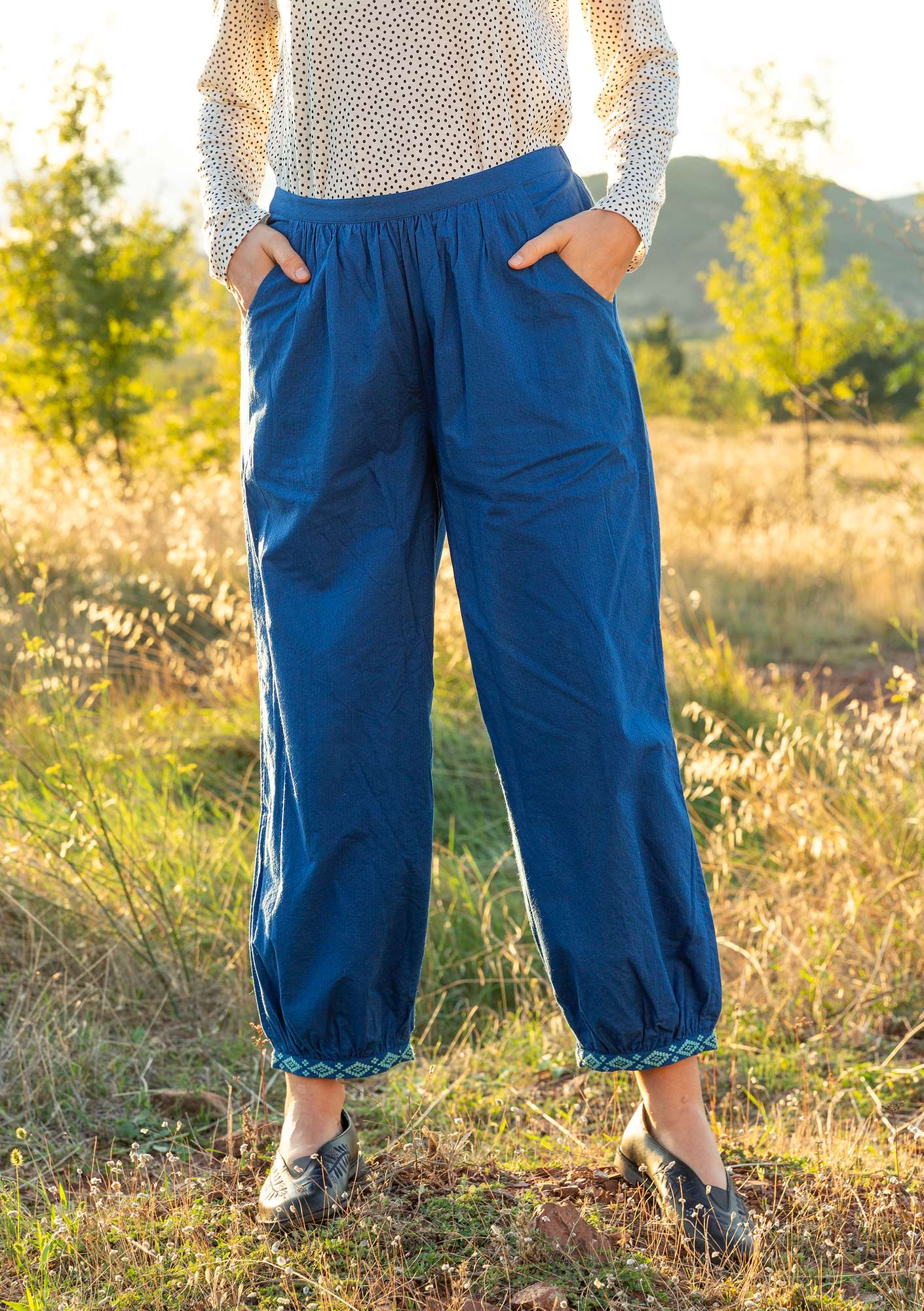 Mimi pants porcelain blue