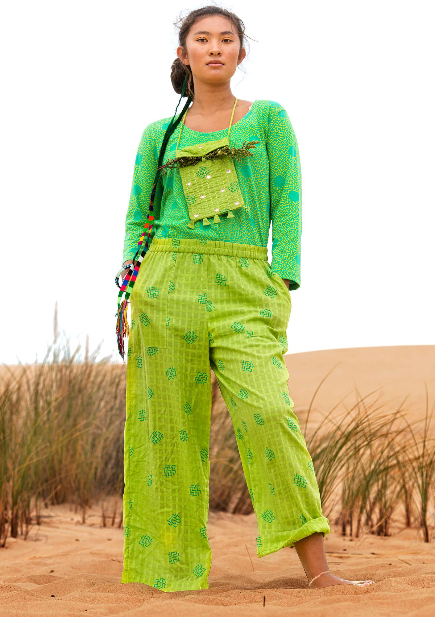 Pantalon Thar tropical green