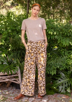 Azilal trousers gold ochre