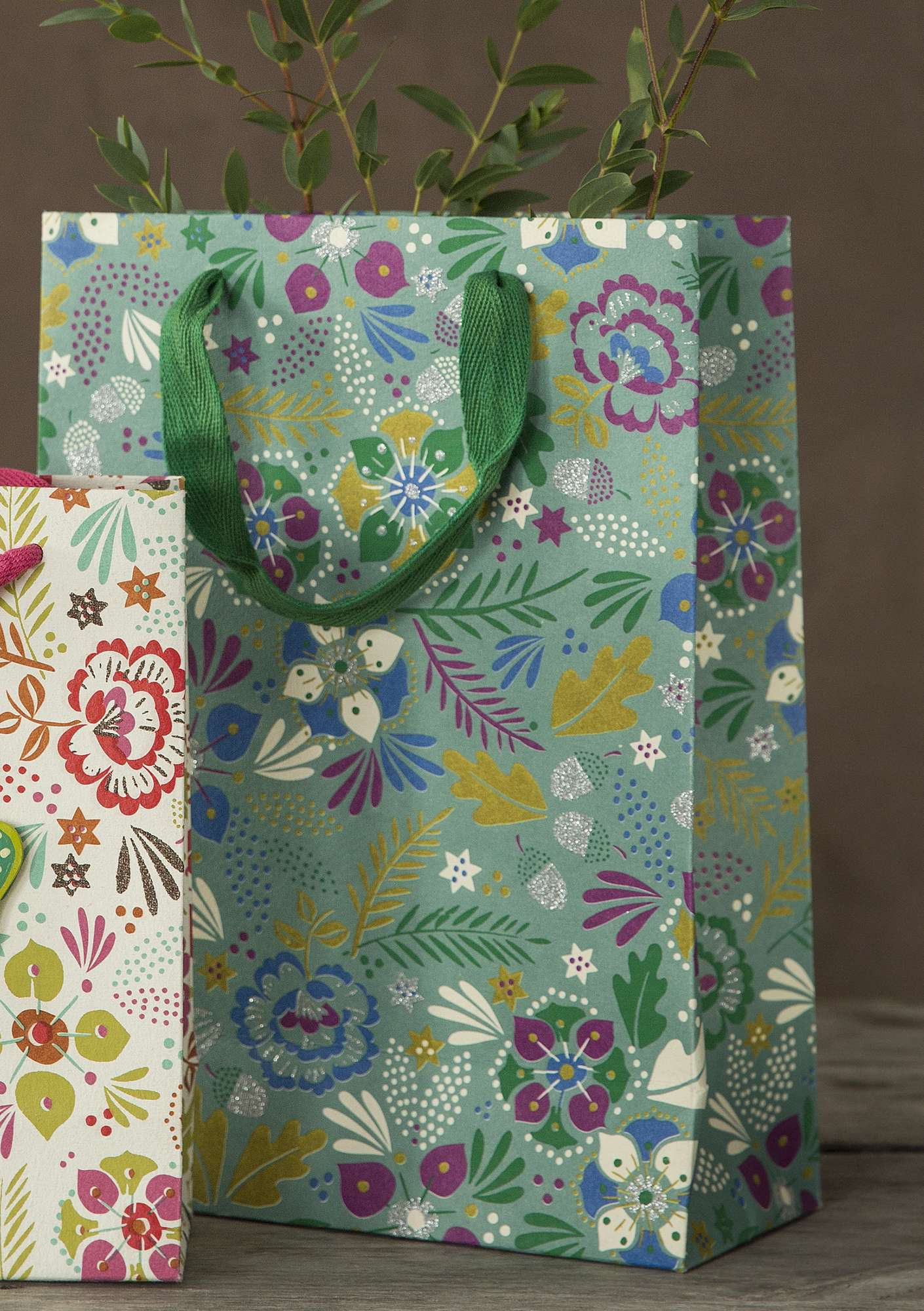 "Large ""Pingla"" paper gift bag turquoise"