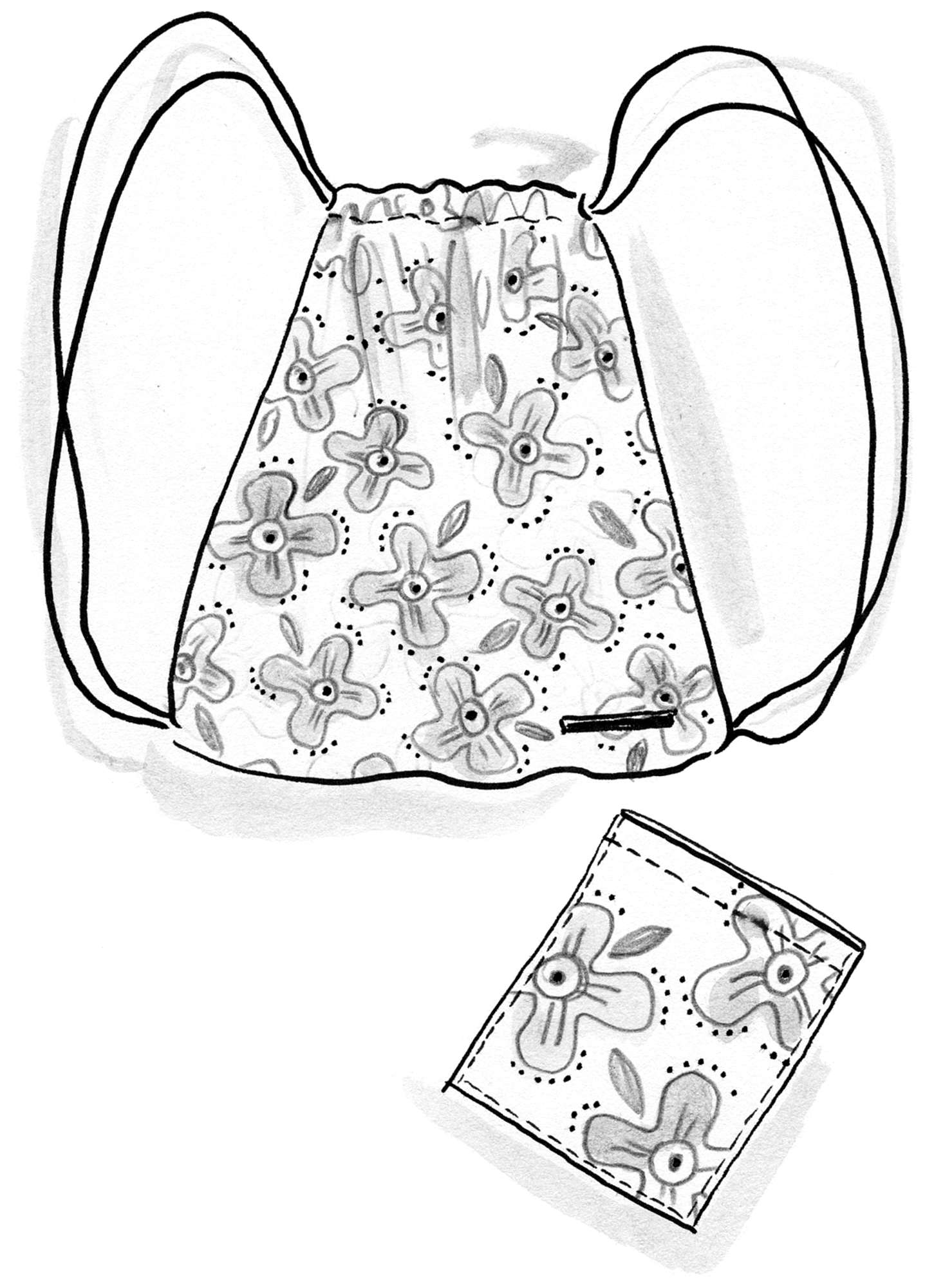 """Polka"" backpack in cotton organdy"