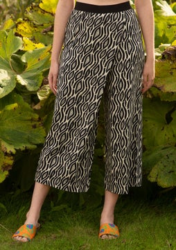 Zebra trousers oyster