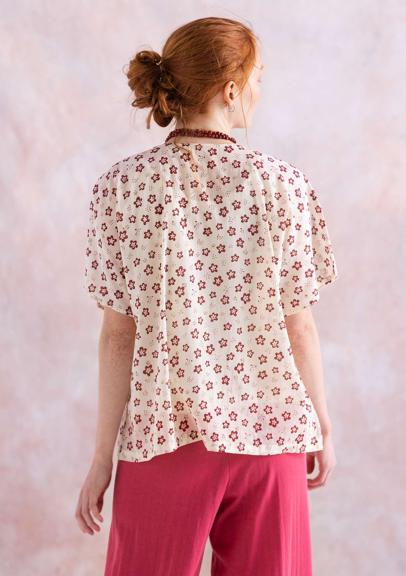 """Soho"" blouse in eco-cotton natural"