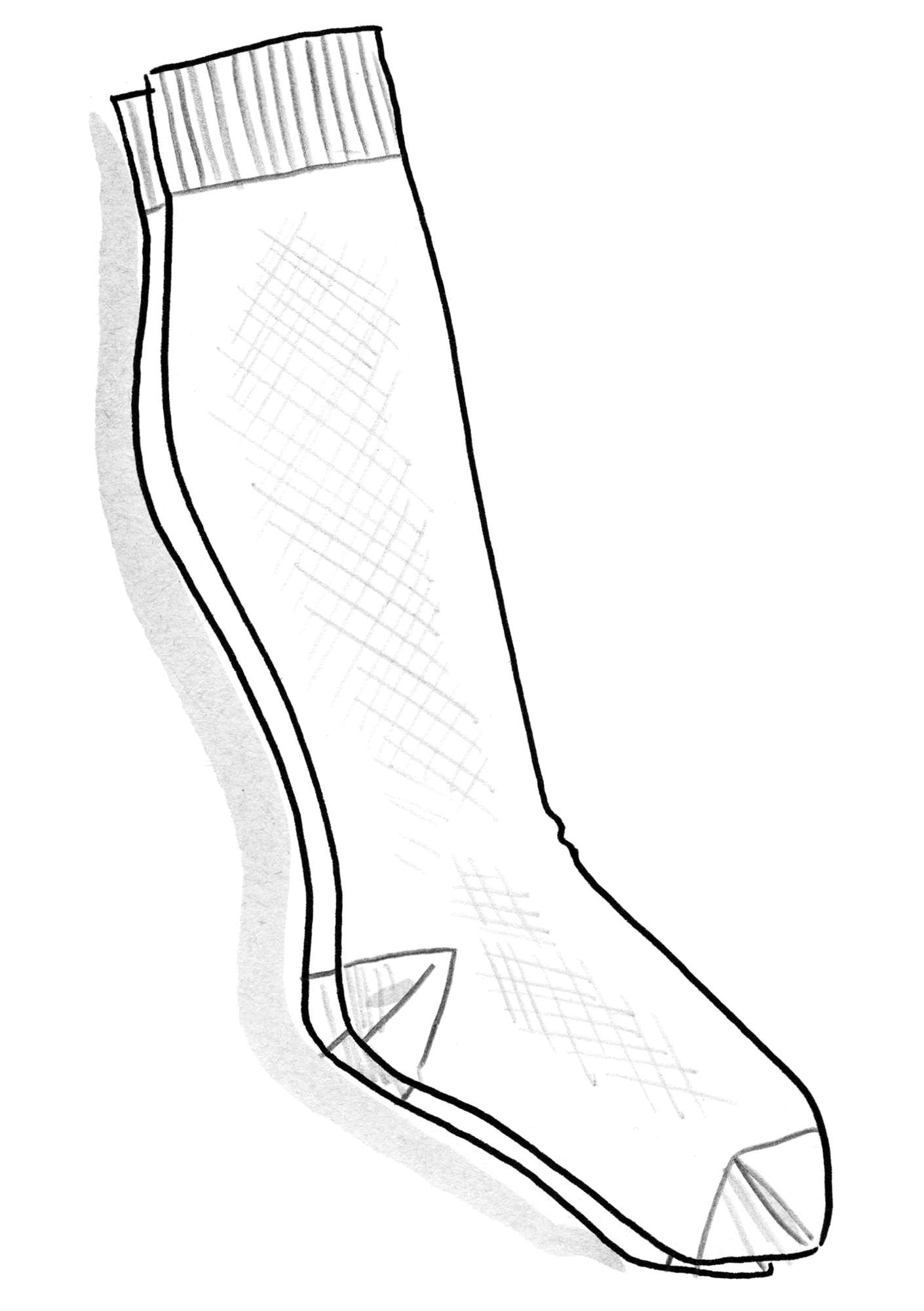 Compression socks in nylon guava