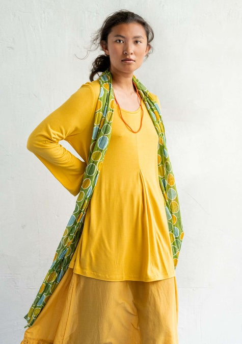 Silk-blend tunic pineapple