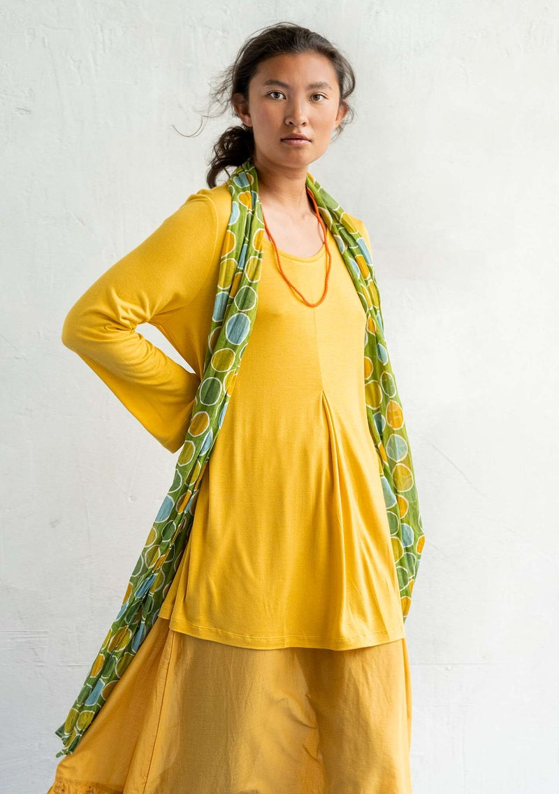 Modal/silk jersey tunic pineapple