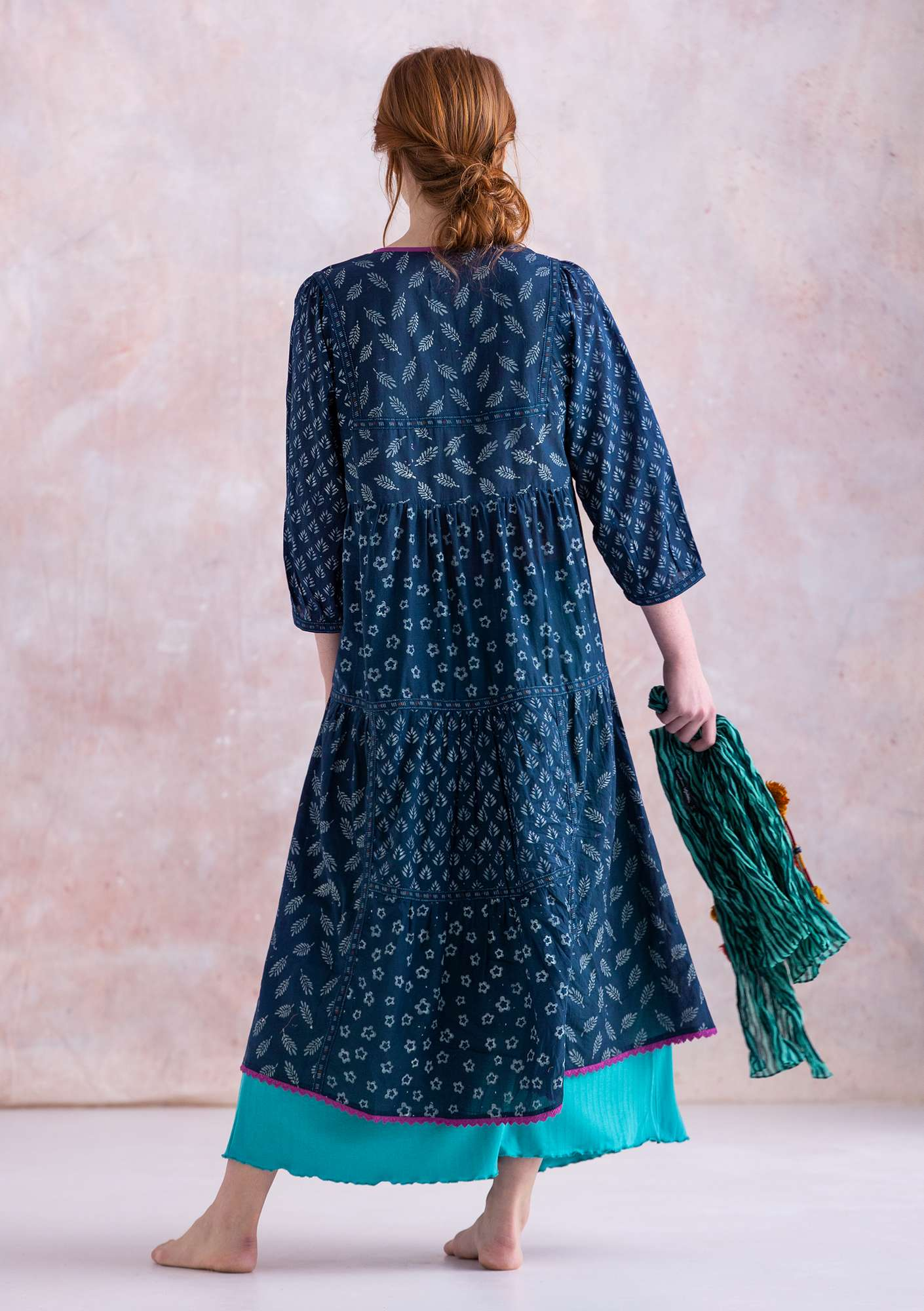 """Soho"" dress in organic cotton indigo"