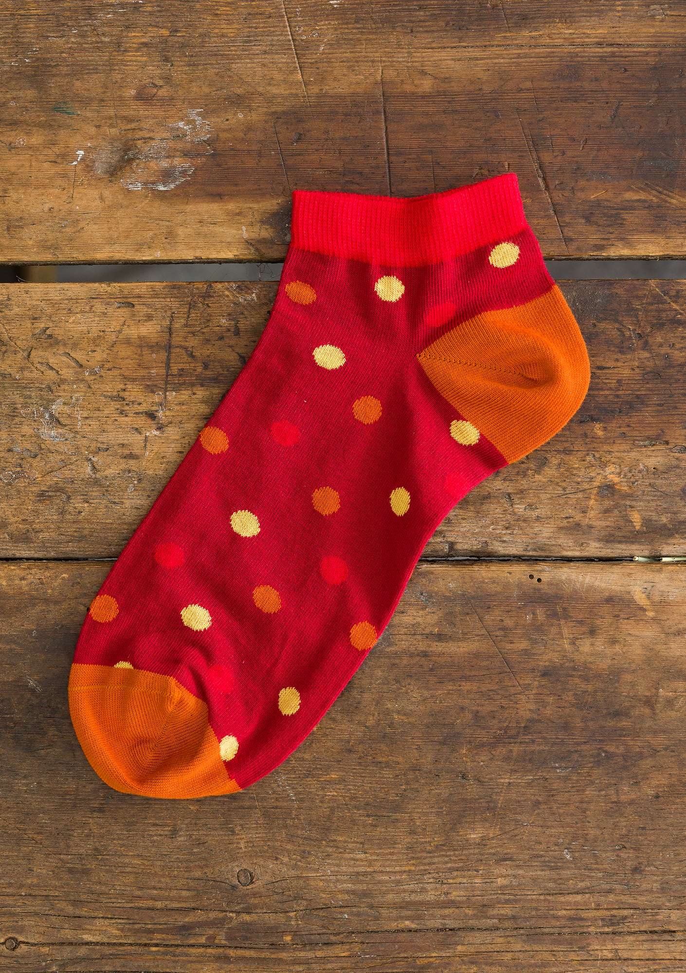 """Belle"" organic cotton ankle socks cranberry"