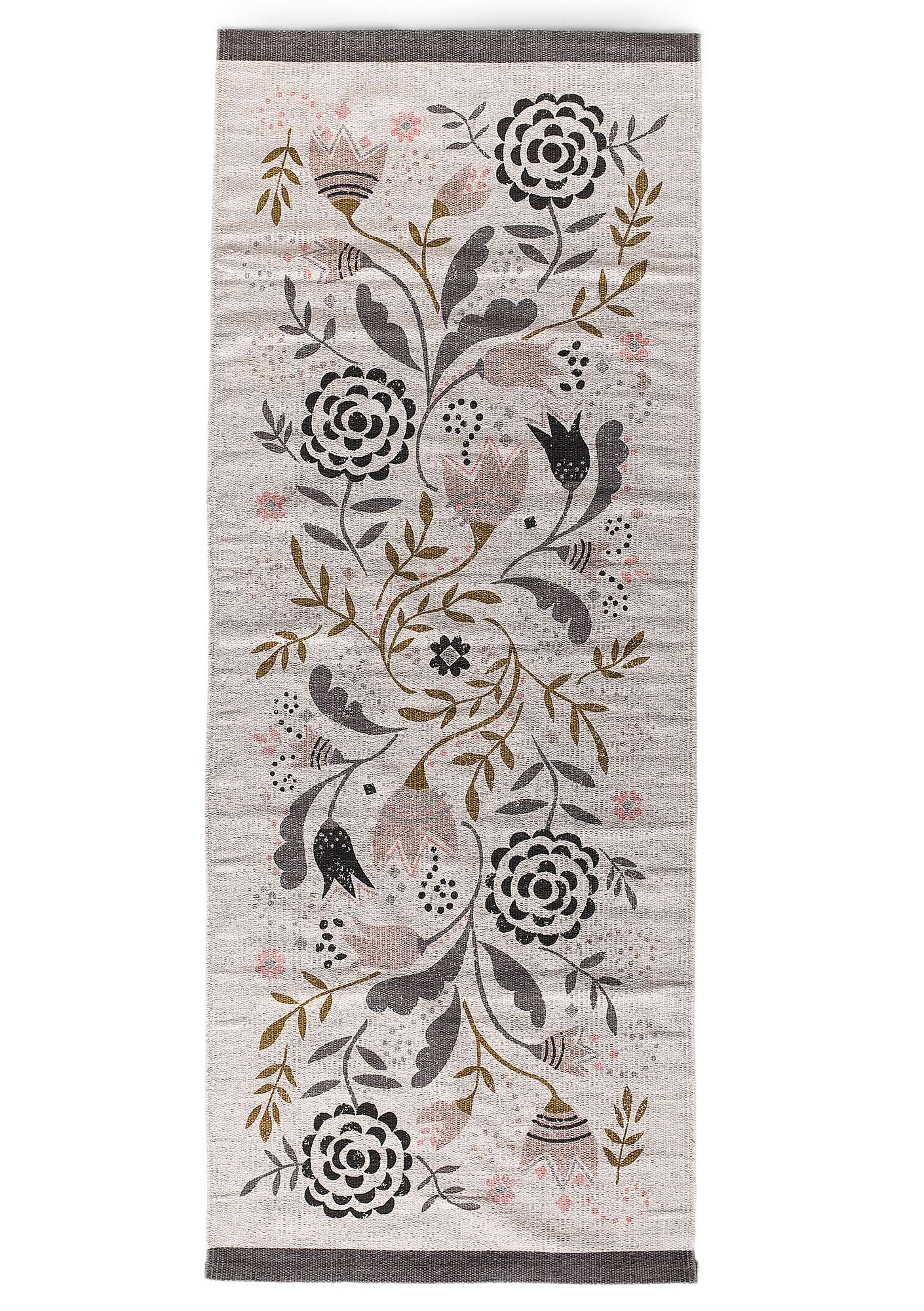 """Småland"" cotton hallway mat natural"