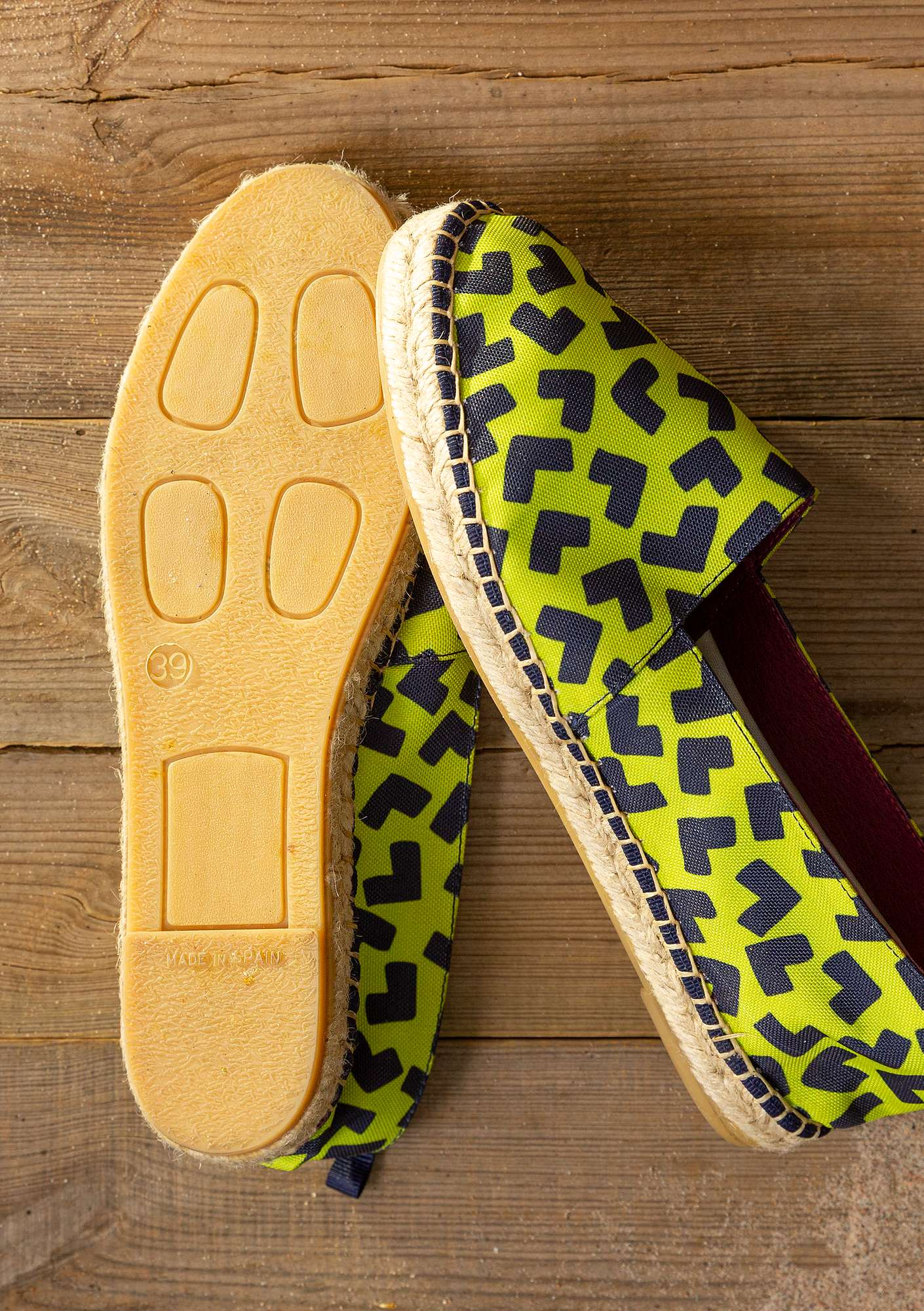 """Hake"" cotton espadrilles tropical green"