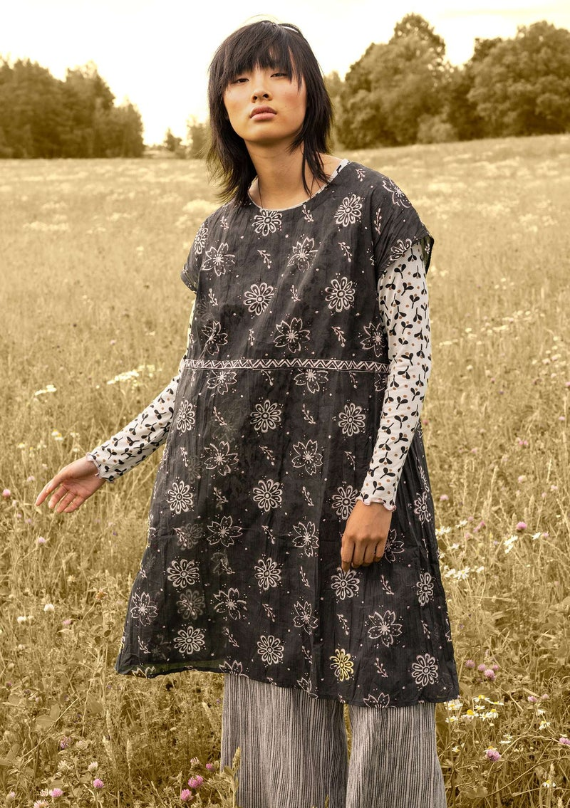 """Mallika"" organic cotton dress black"