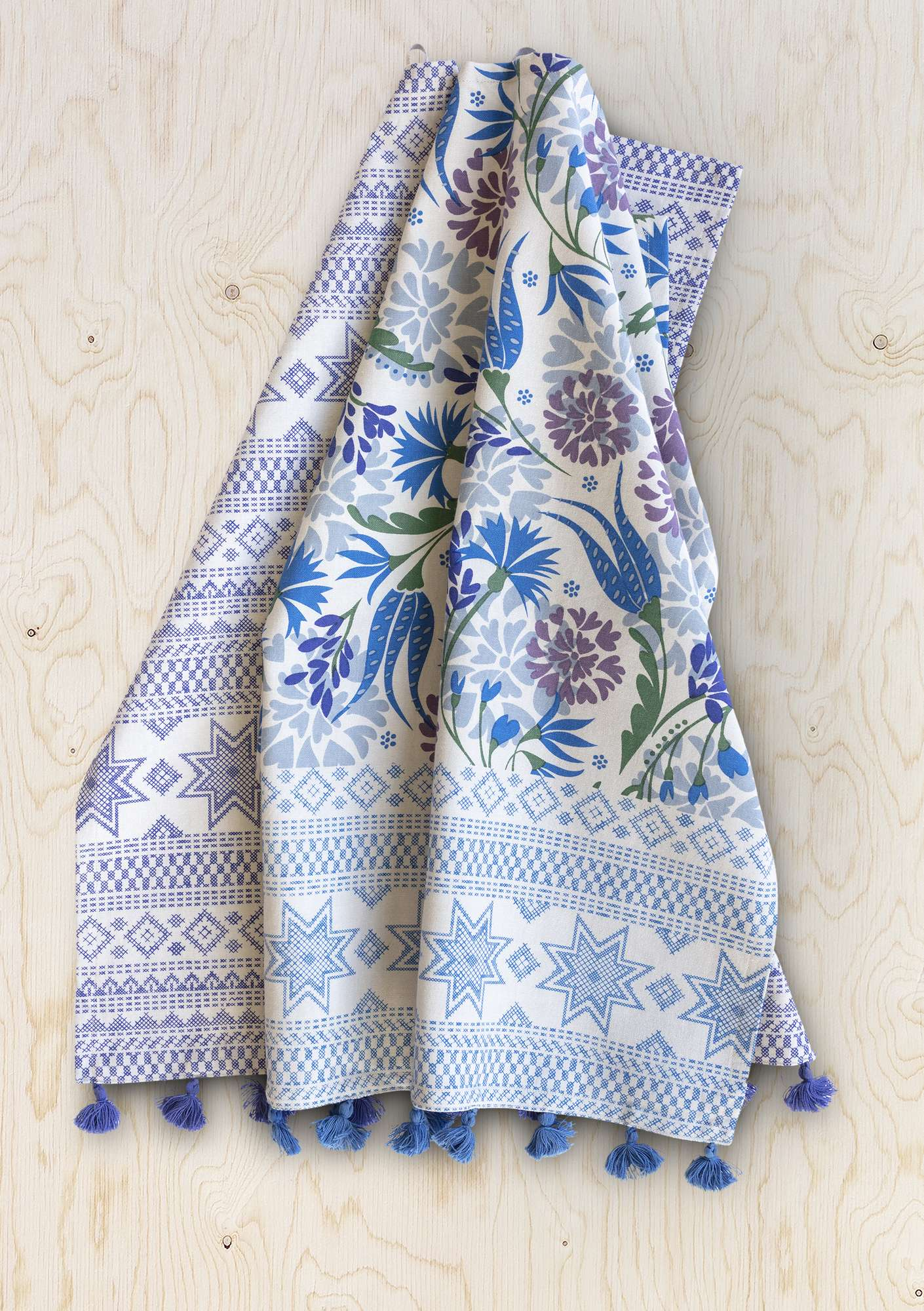 """Oas"" kitchen towel in eco-cotton 2-pack medium blue"