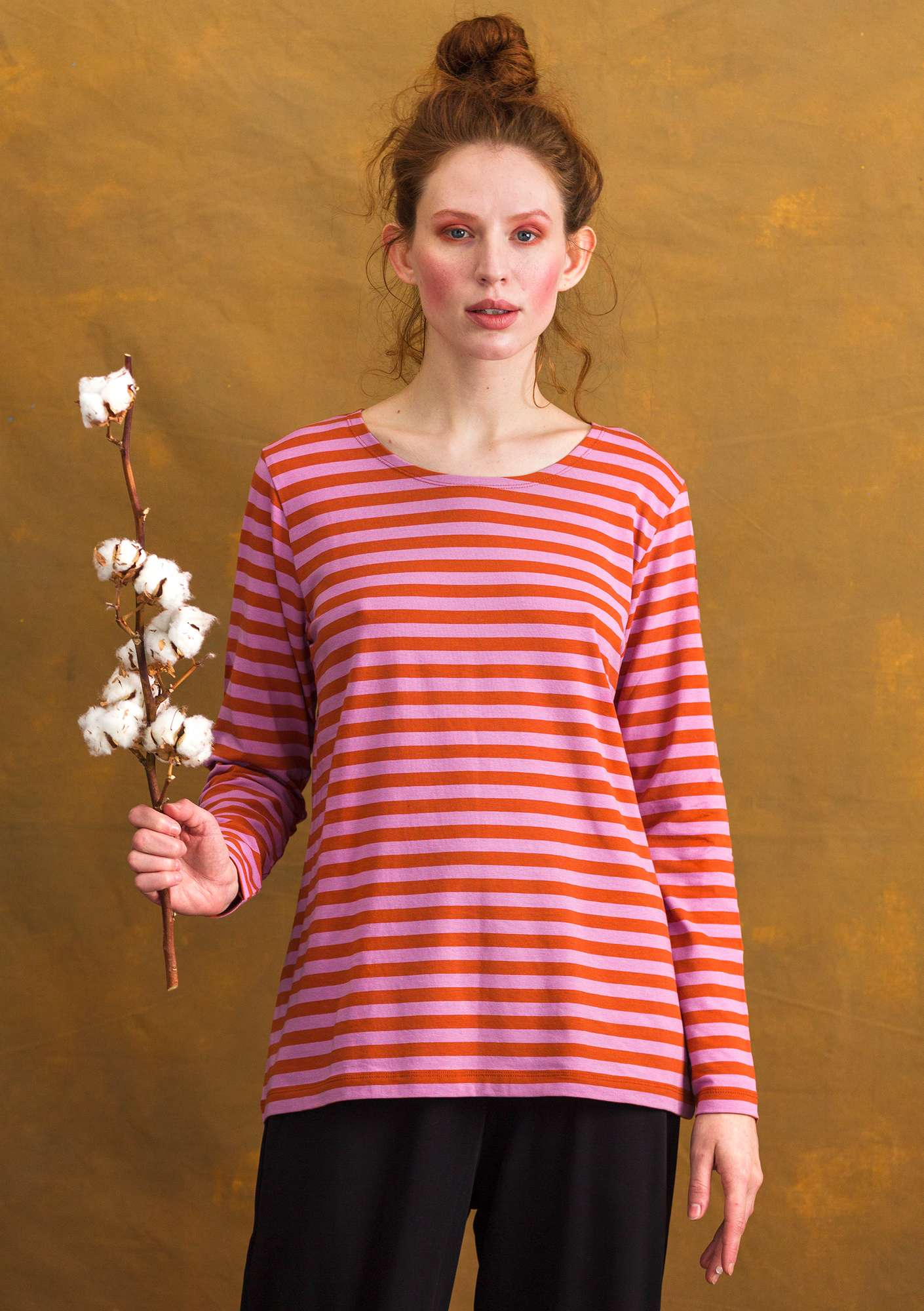 Striped Top henna/pink lupin