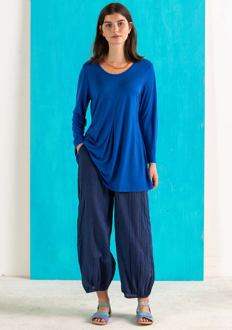 """Billie"" organic/recycled cotton trousers midnight blue"