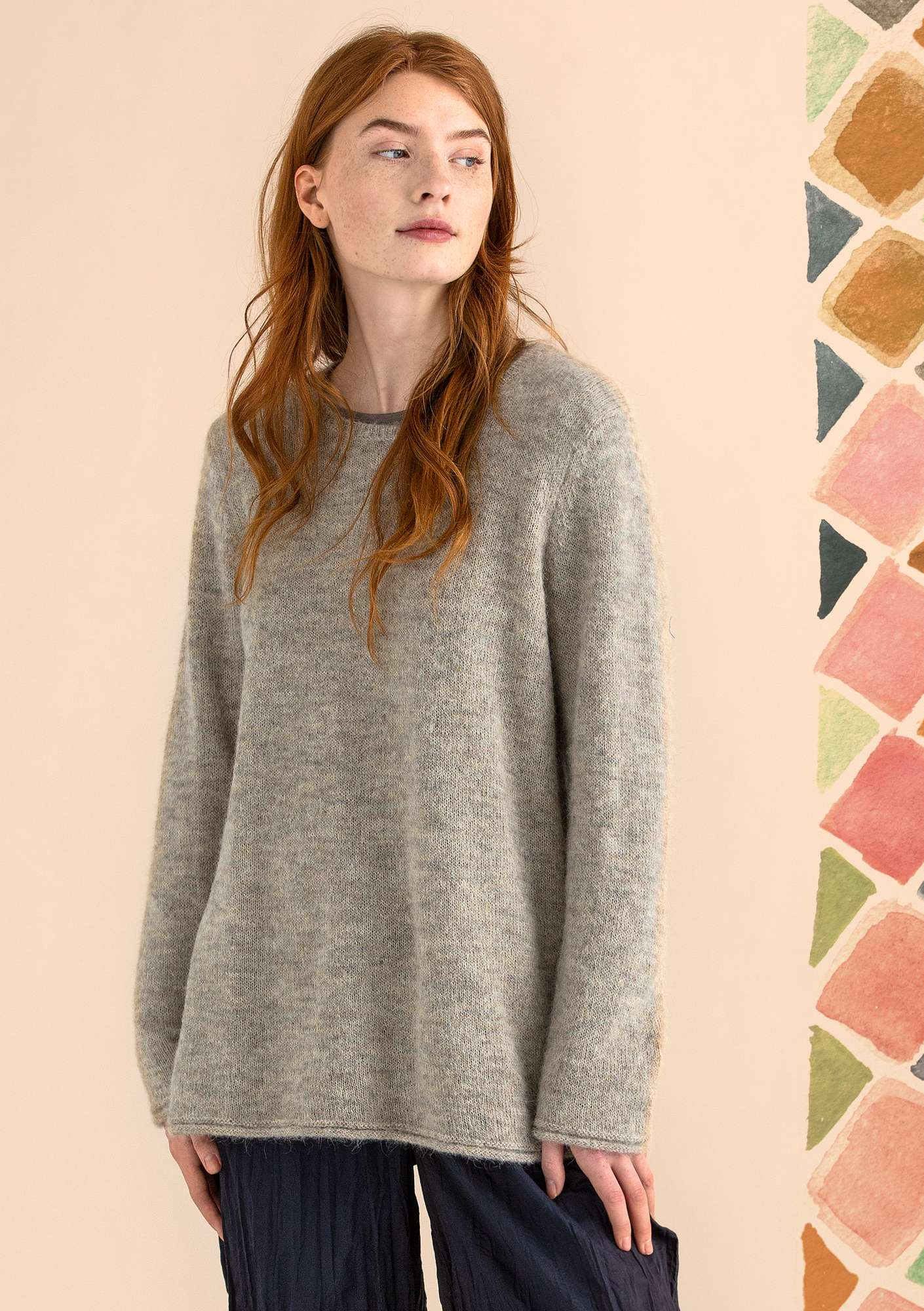 FAVOURITE alpaca-blend sweater dark natural/melange