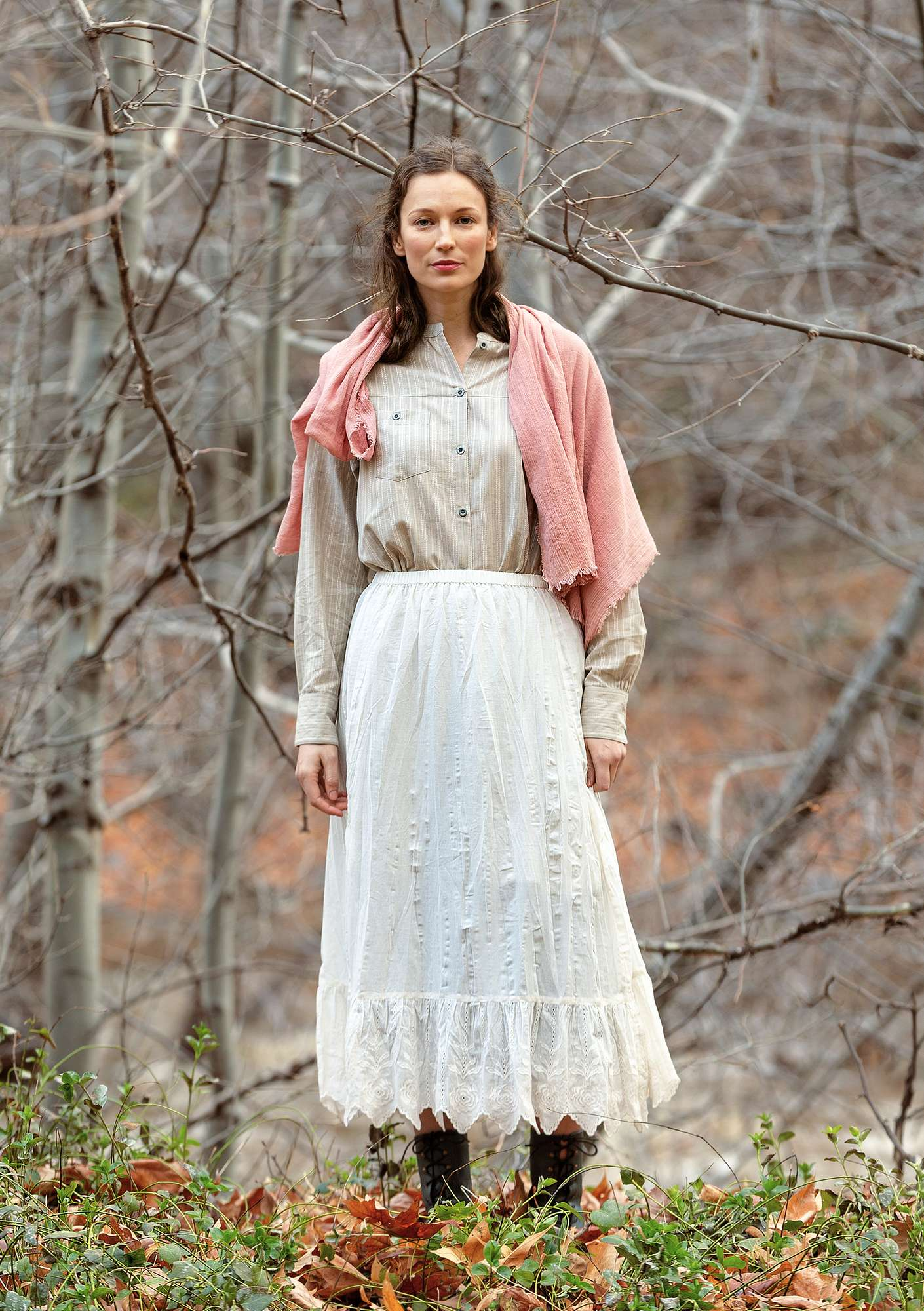 Petticoat in organic cotton offwhite