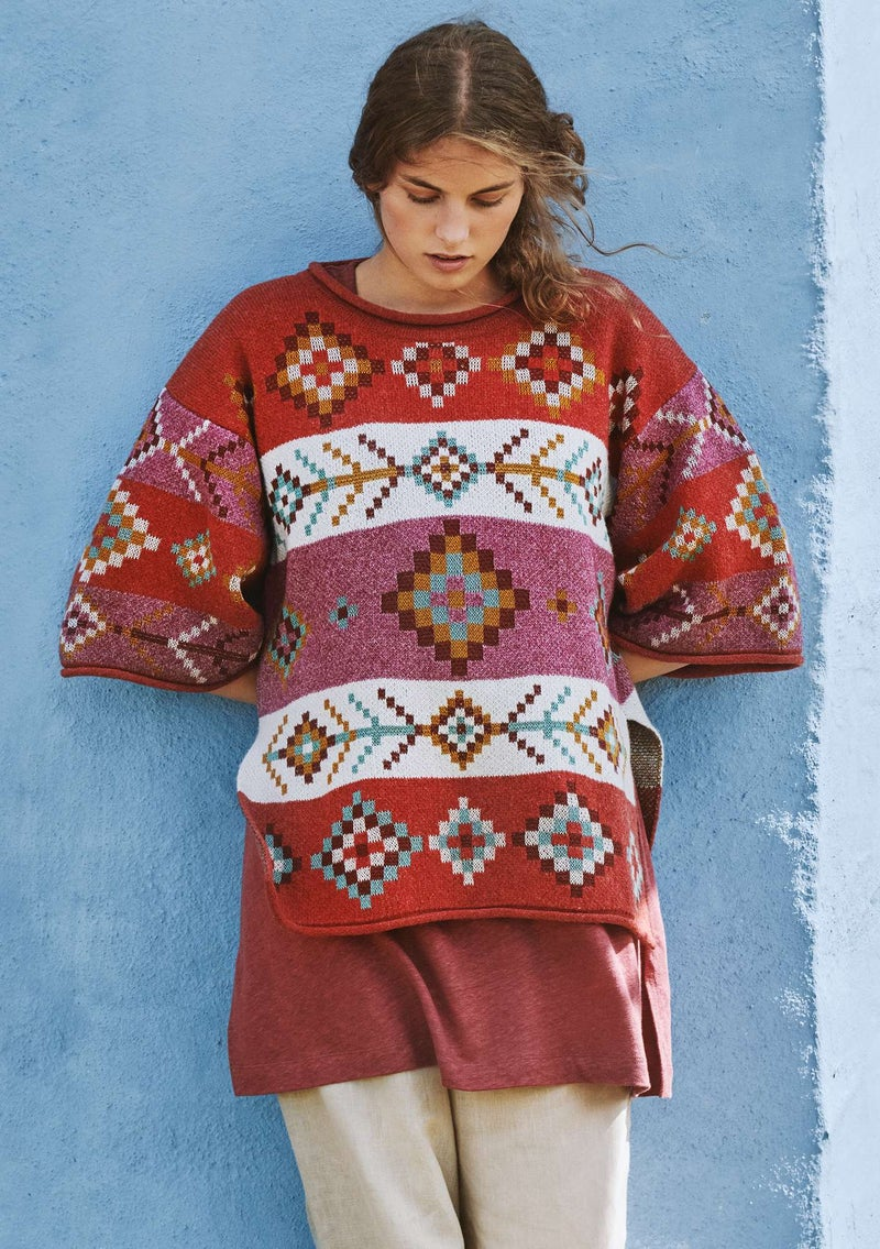 """Berber"" organic cotton/wool sweater copper"