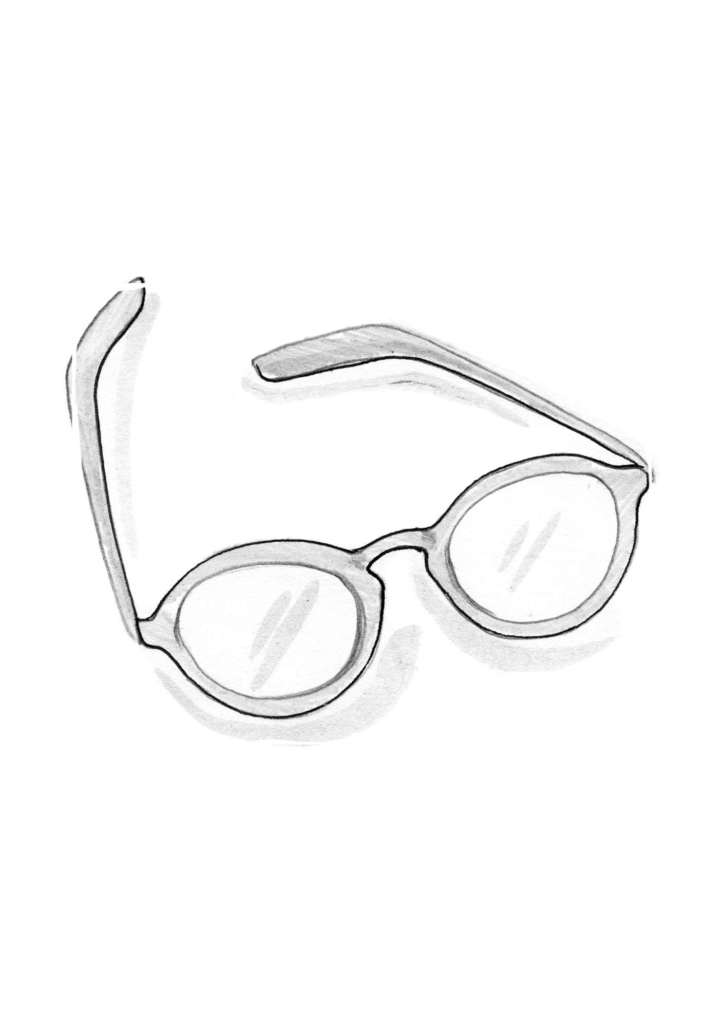 """Gudrun"" reading glasses guava"