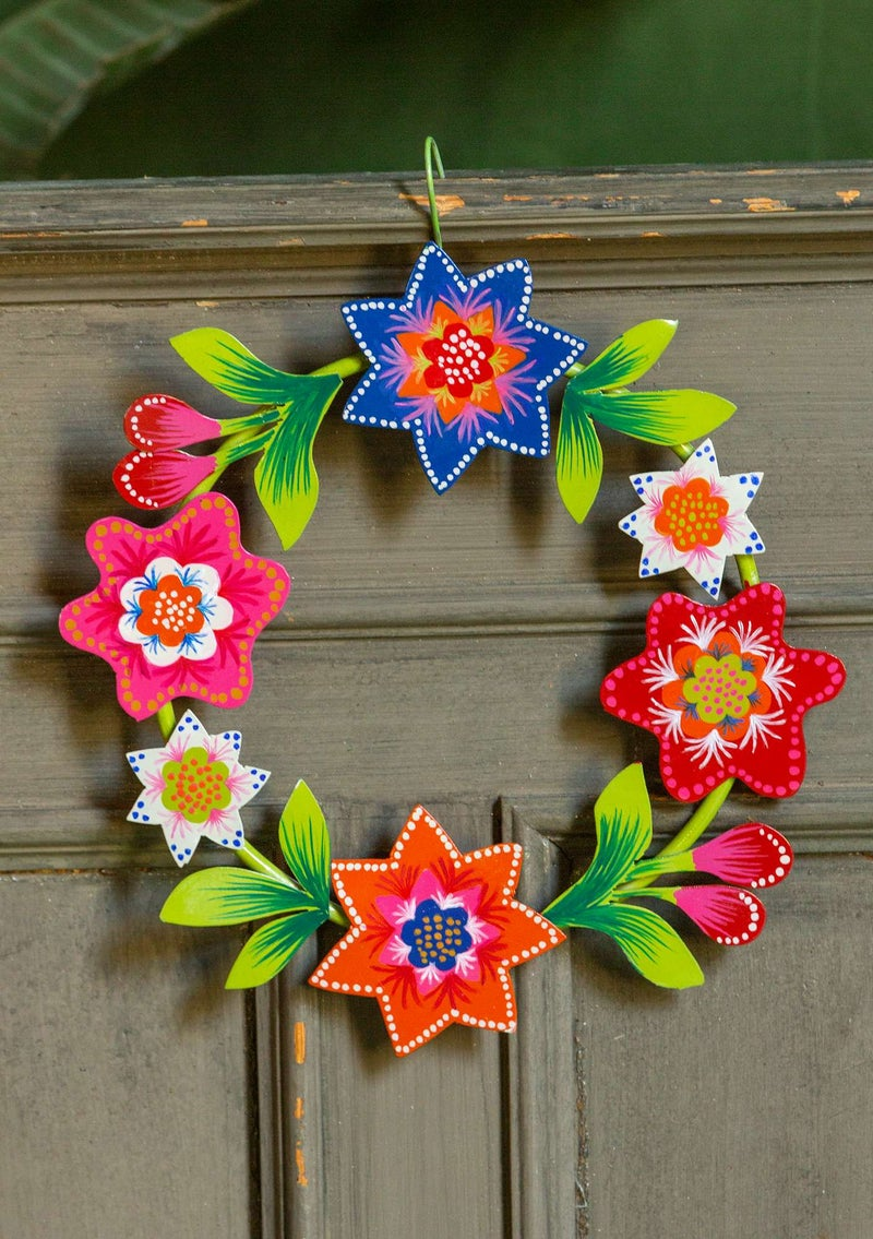 """Julros"" metal wreath multicoloured"