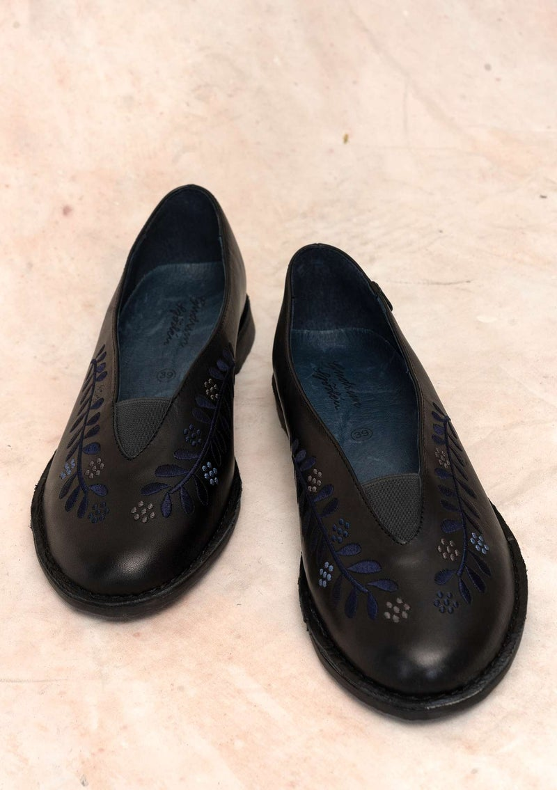 """Lily"" nappa shoes black"