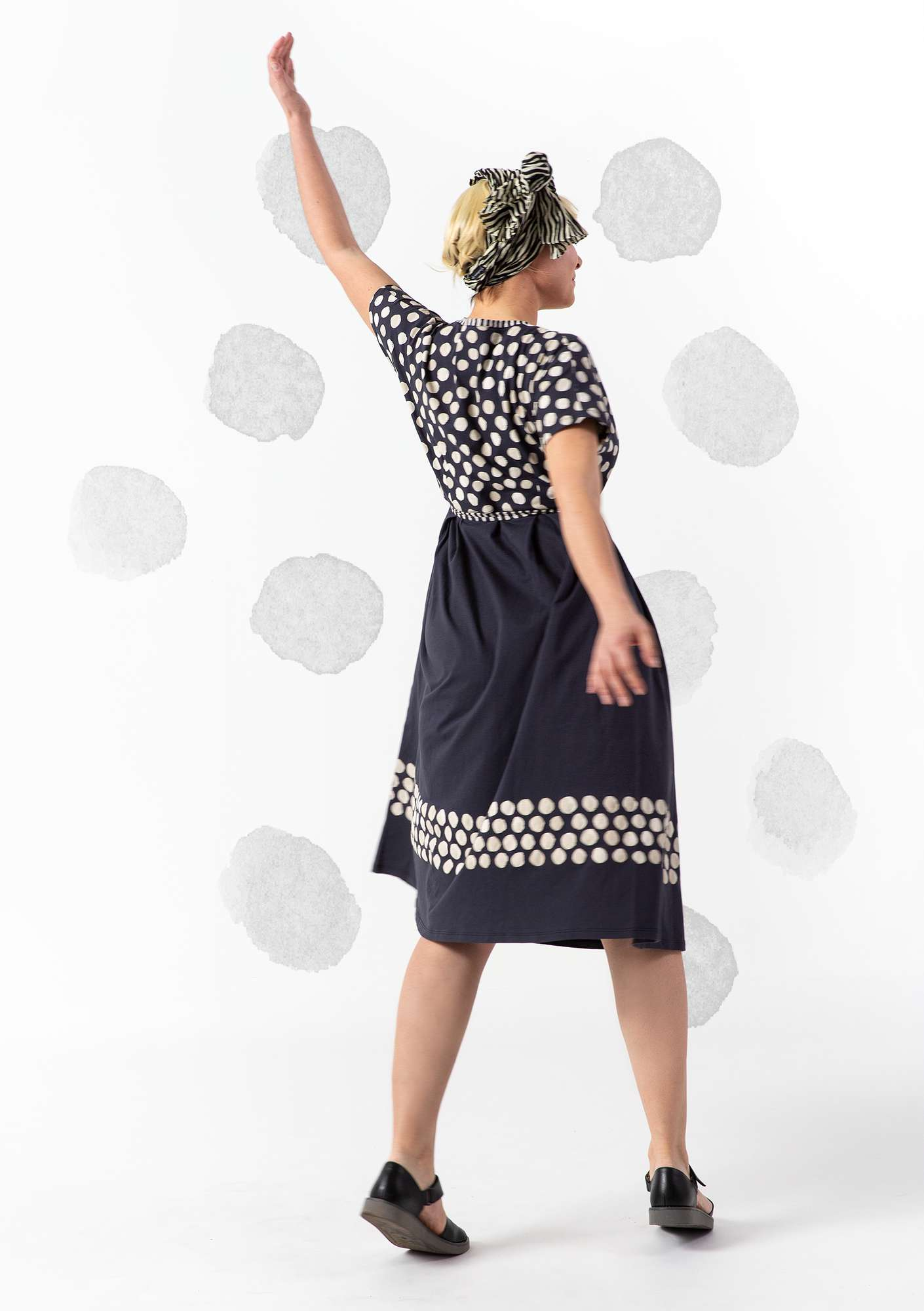 """Mimosa"" eco-cotton dress ink blue"