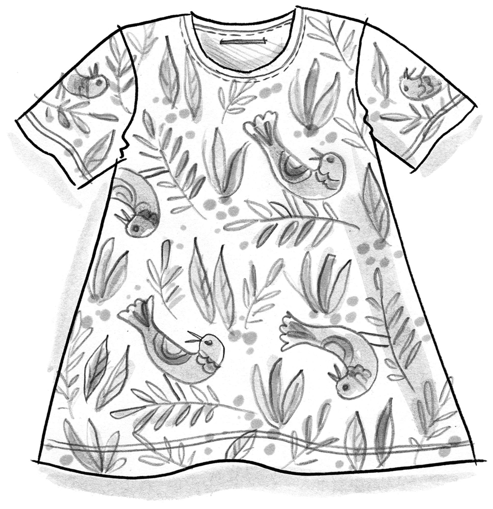 """Boho Bird"" top in micromodal/spandex"