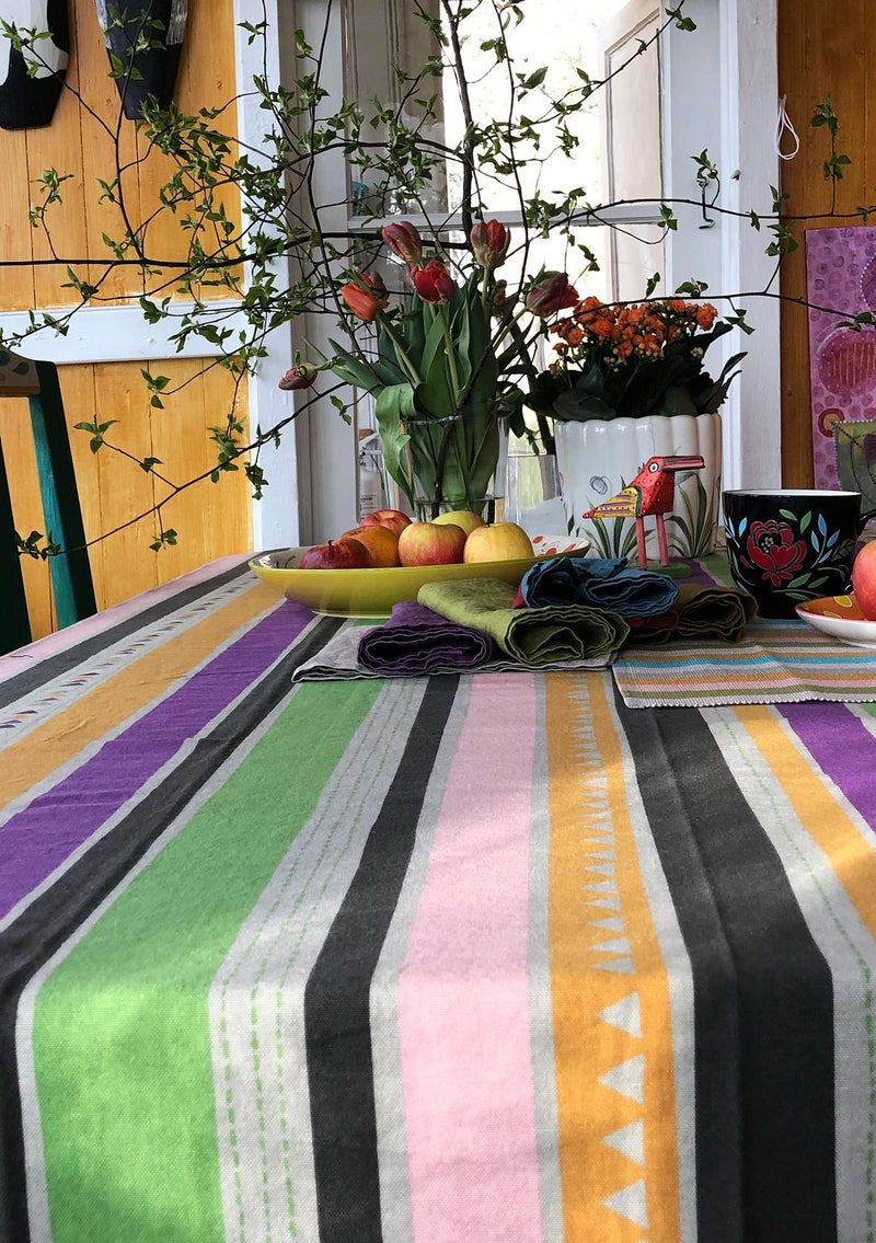 """Santa Fe"" organic cotton tablecloth natural"