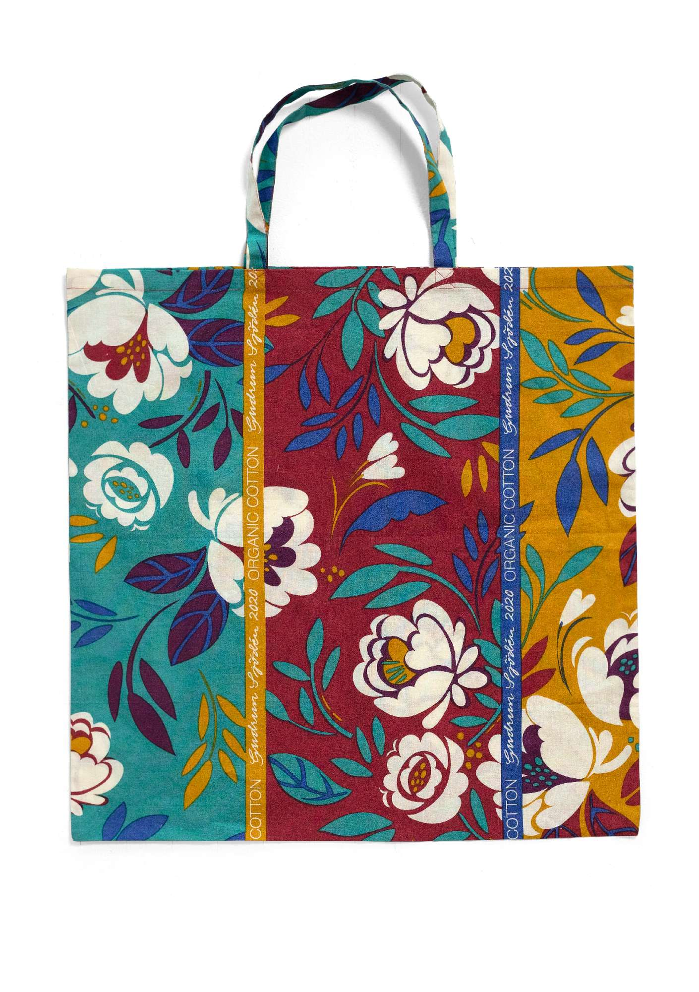 Fabric tote bag L poppy