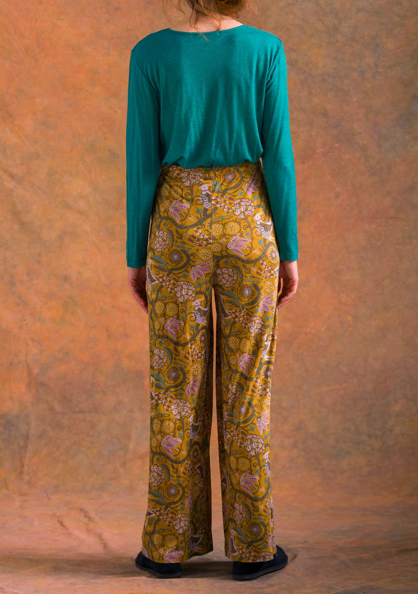 """Paradis"" modal jersey trousers curry"