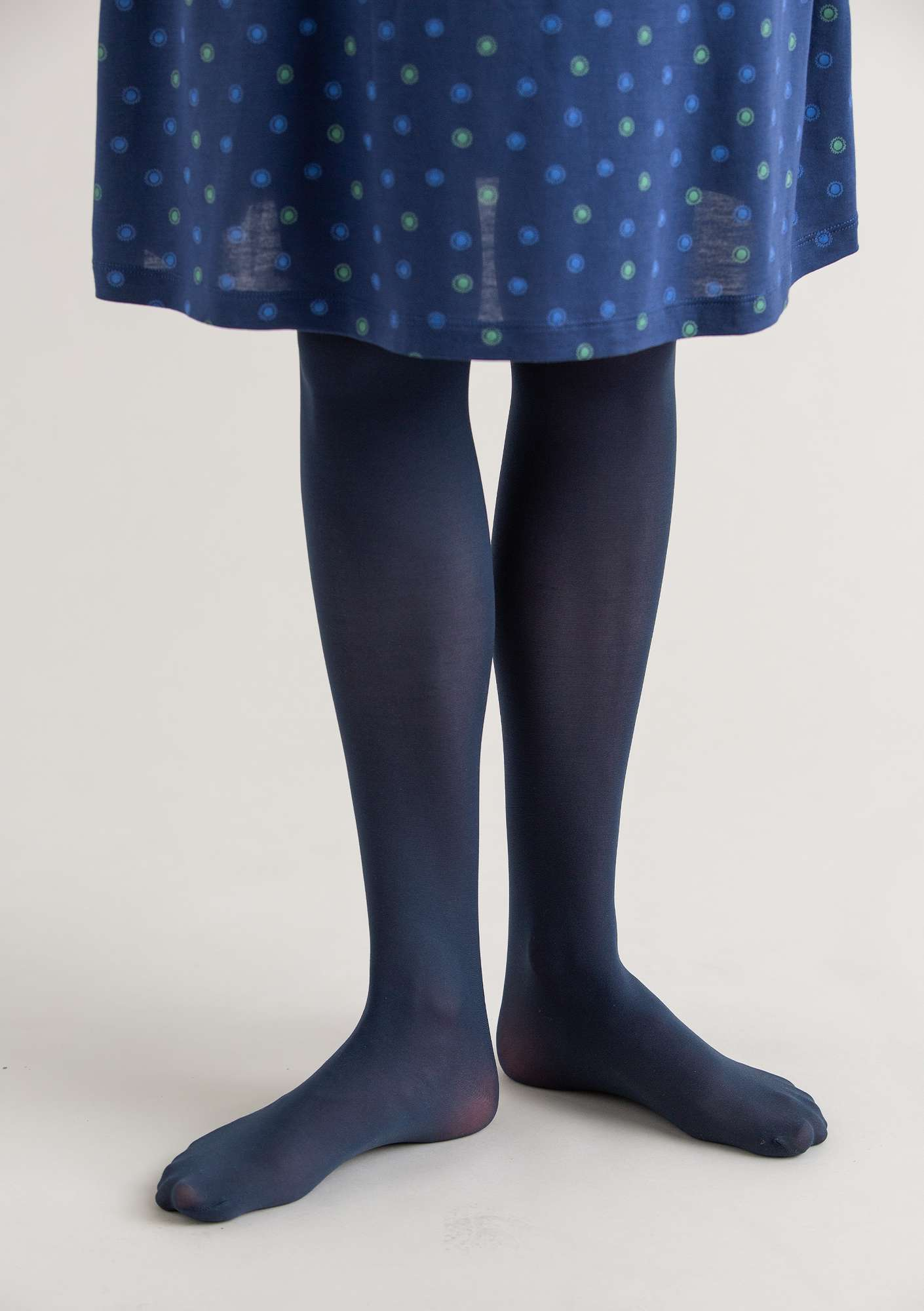Tights in recycled polyamide dark indigo