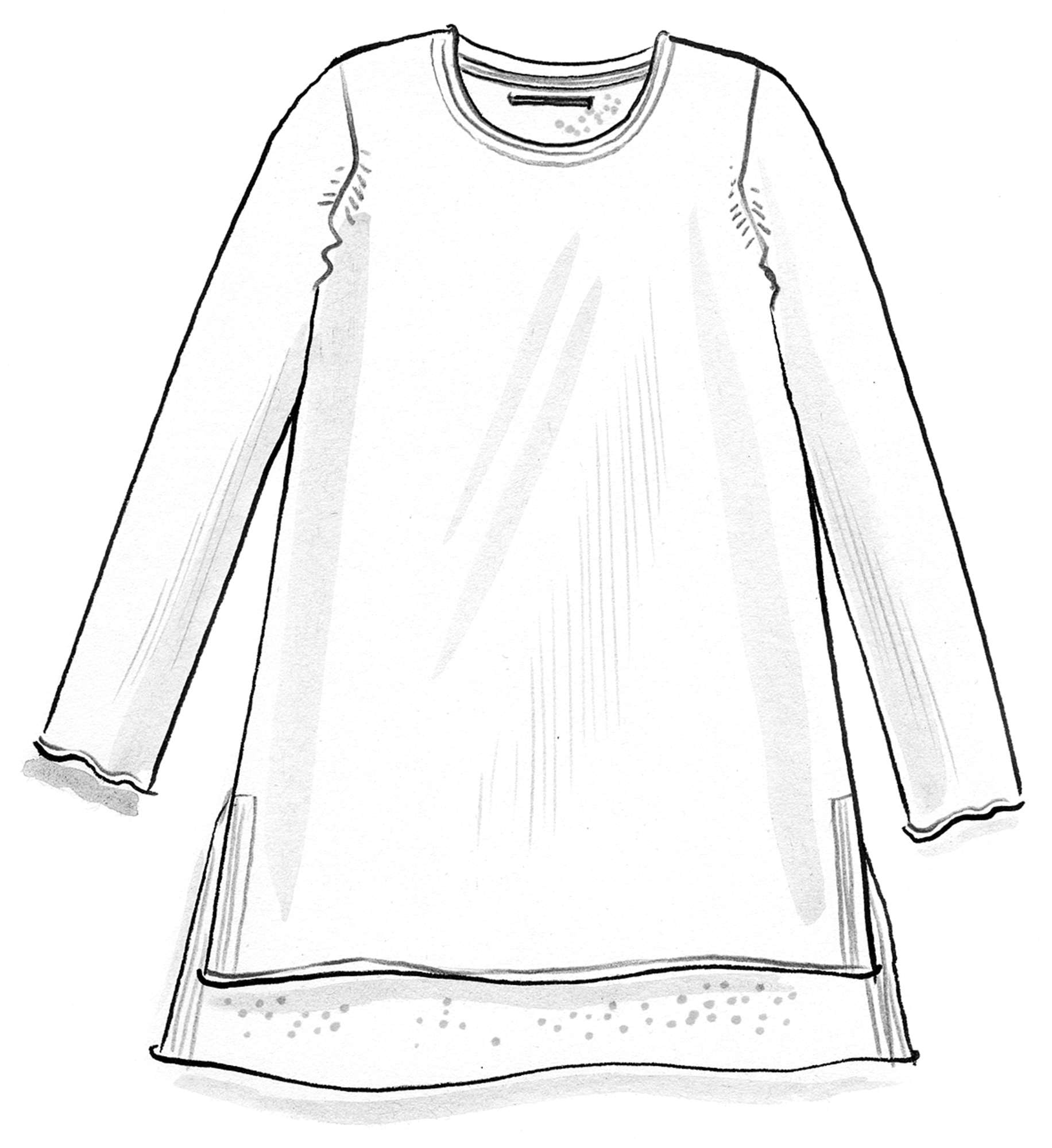 Knitted tunic in organic linen