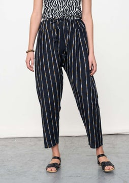 Ikat trousers black