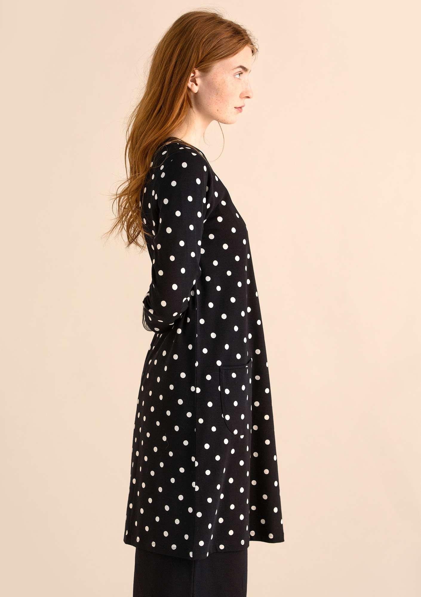 DOT dress in modal/organic cotton/elastane black/patterned