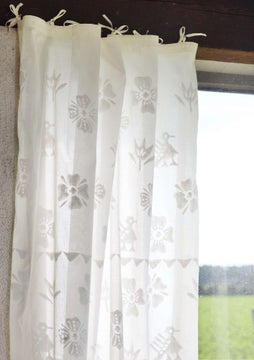 Paloma curtain. ecru