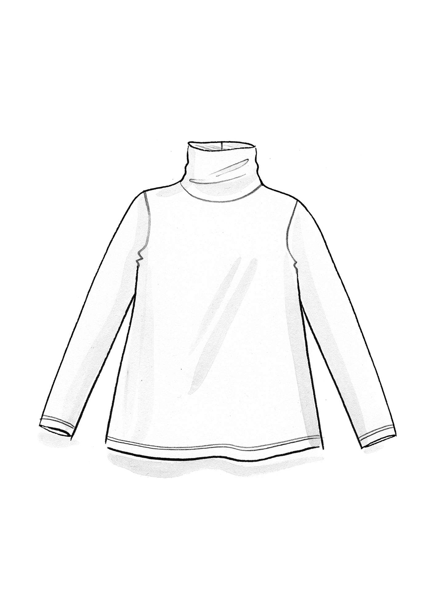 Jersey turtleneck in lyocell/spandex lake