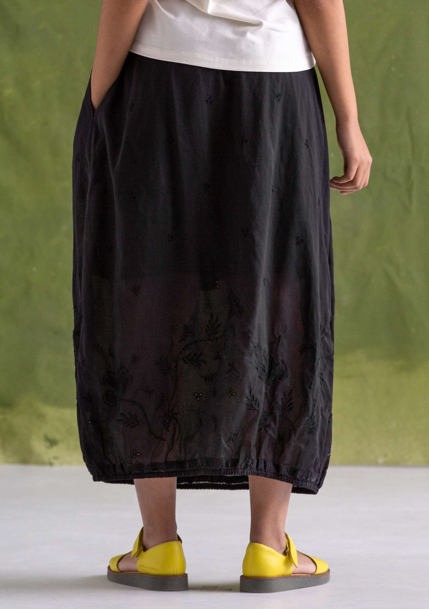 """Little Italy"" skirt in eco-cotton black"