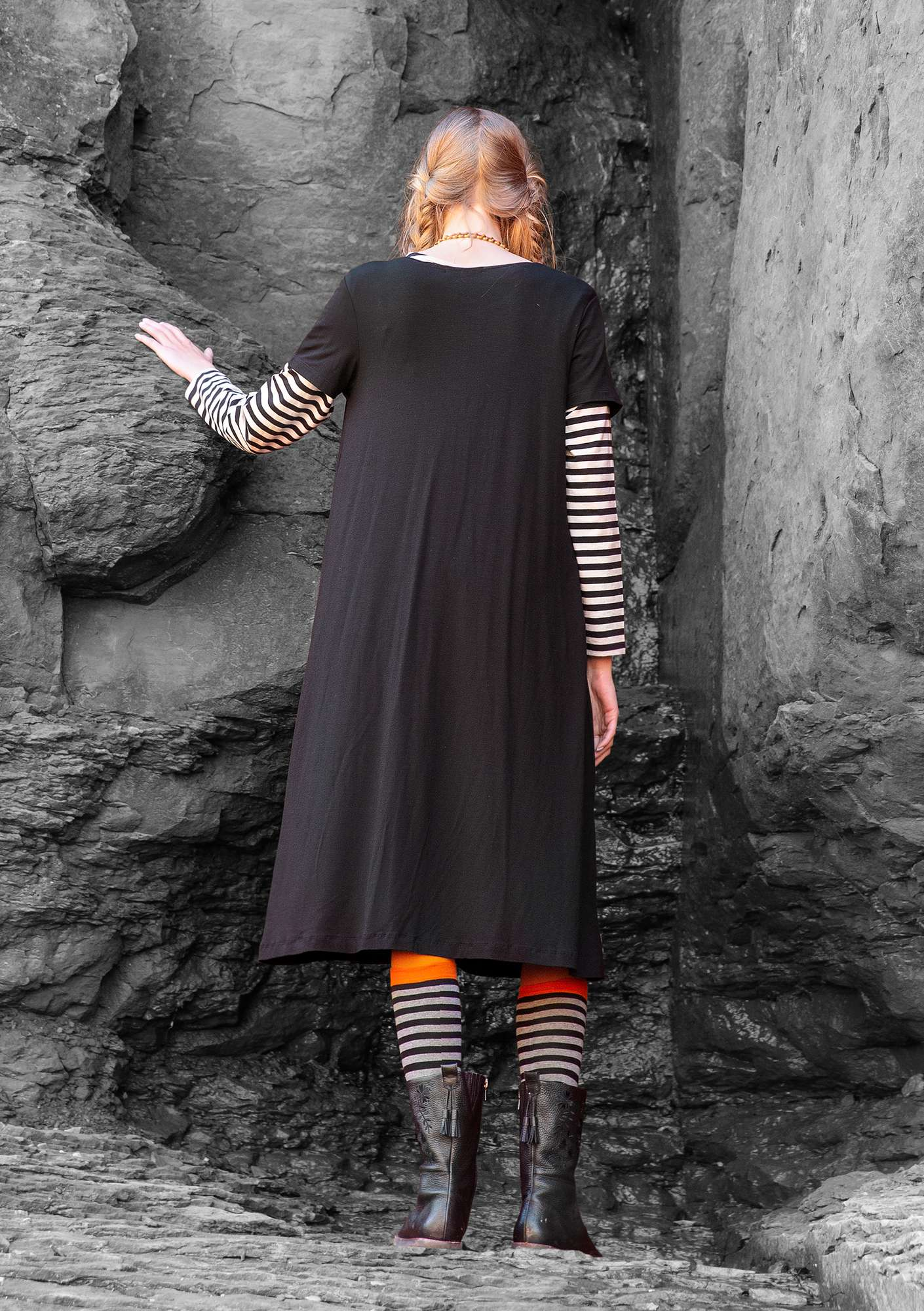 """Paradise"" dress in lyocell/elastane black"