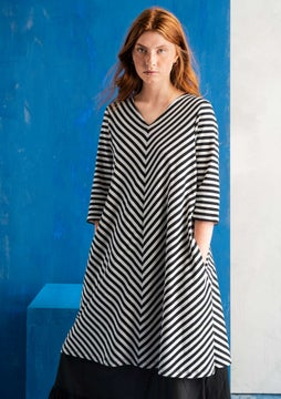 Striped dress black/ecru