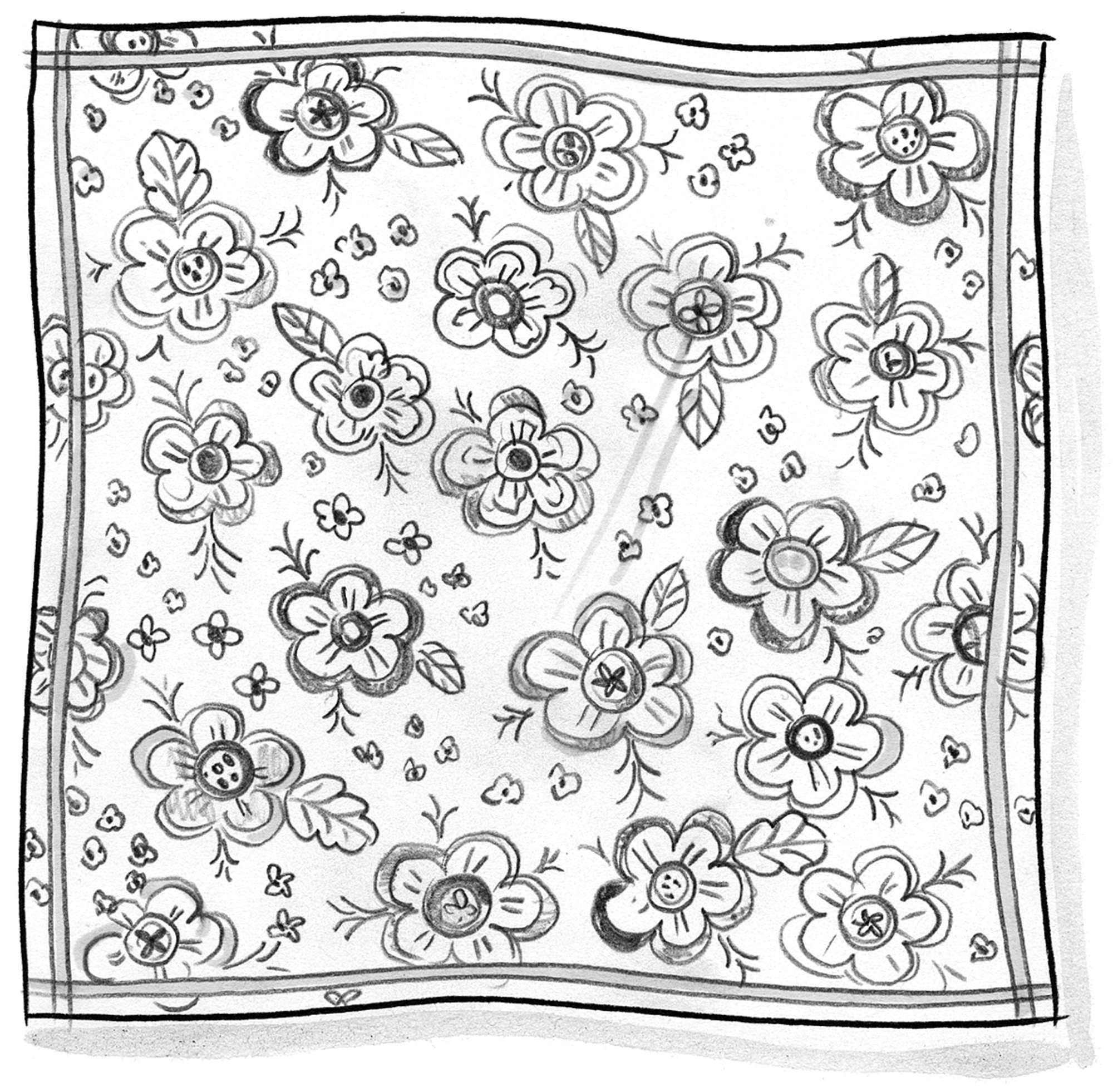 """Lizzie"" organic cotton tablecloth"