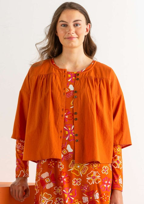 Blouse Rut burnt orange