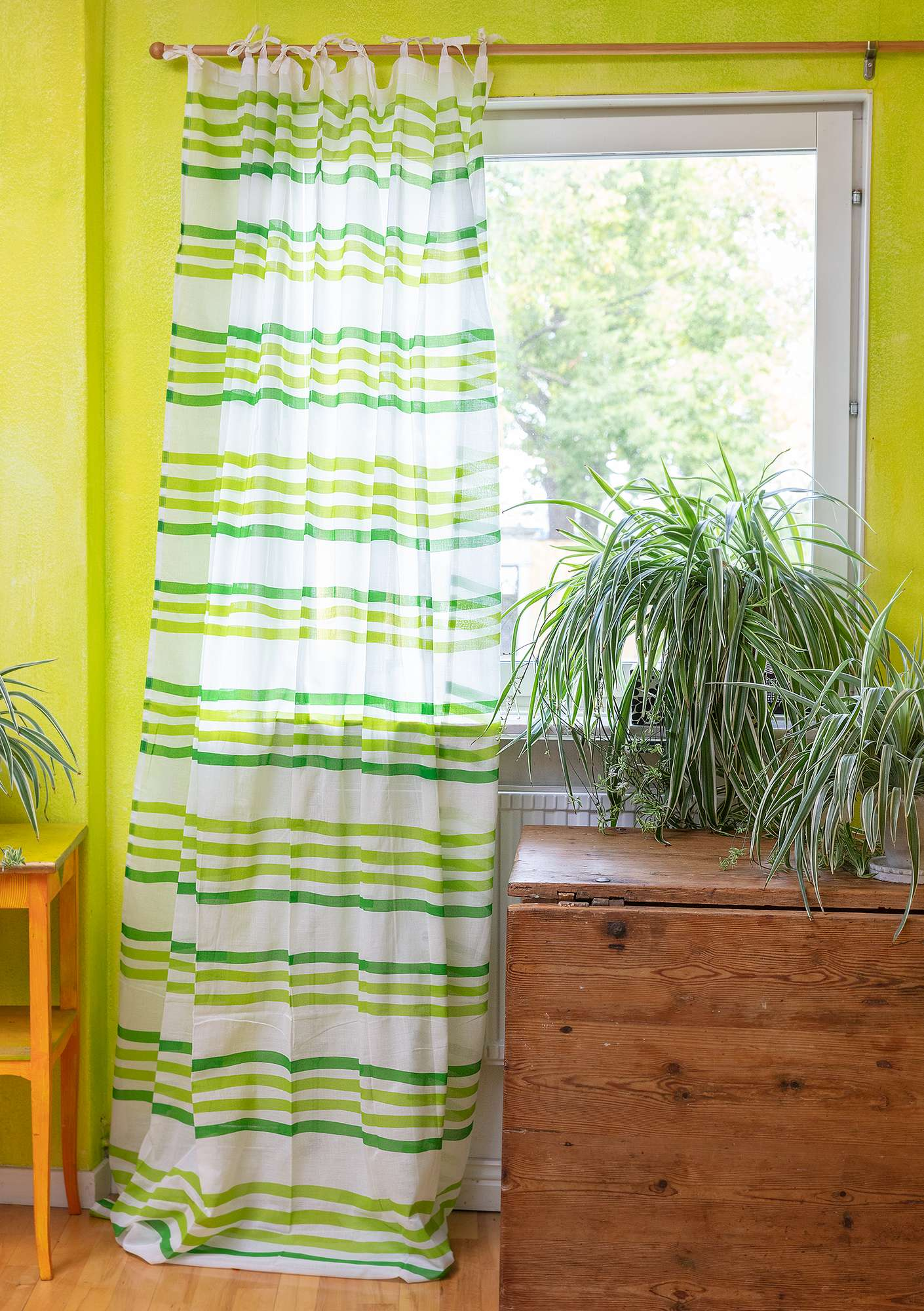 Balans curtain tropical green