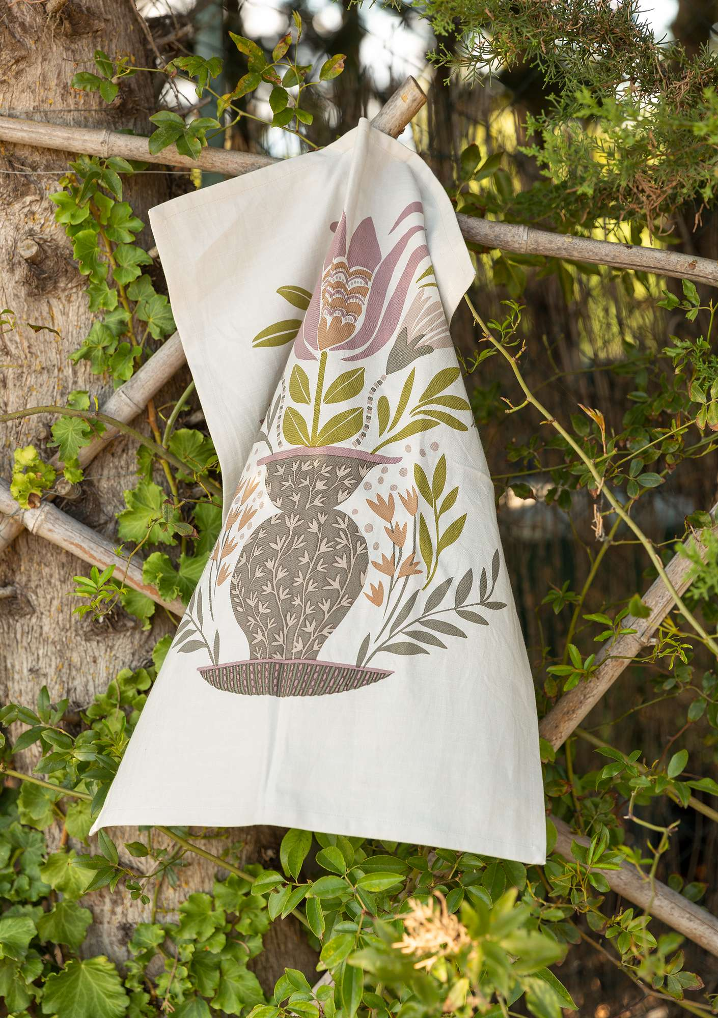 Organic Cotton Kitchen Towels - 2 Pack nature
