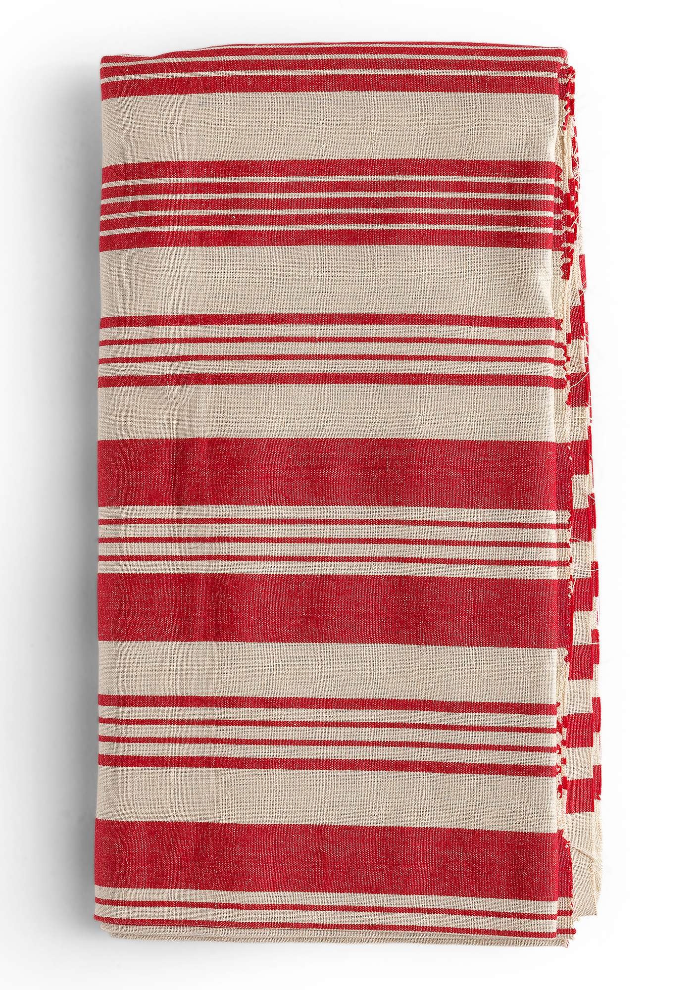 """Bolster"" yard goods in cotton/linen bright red"