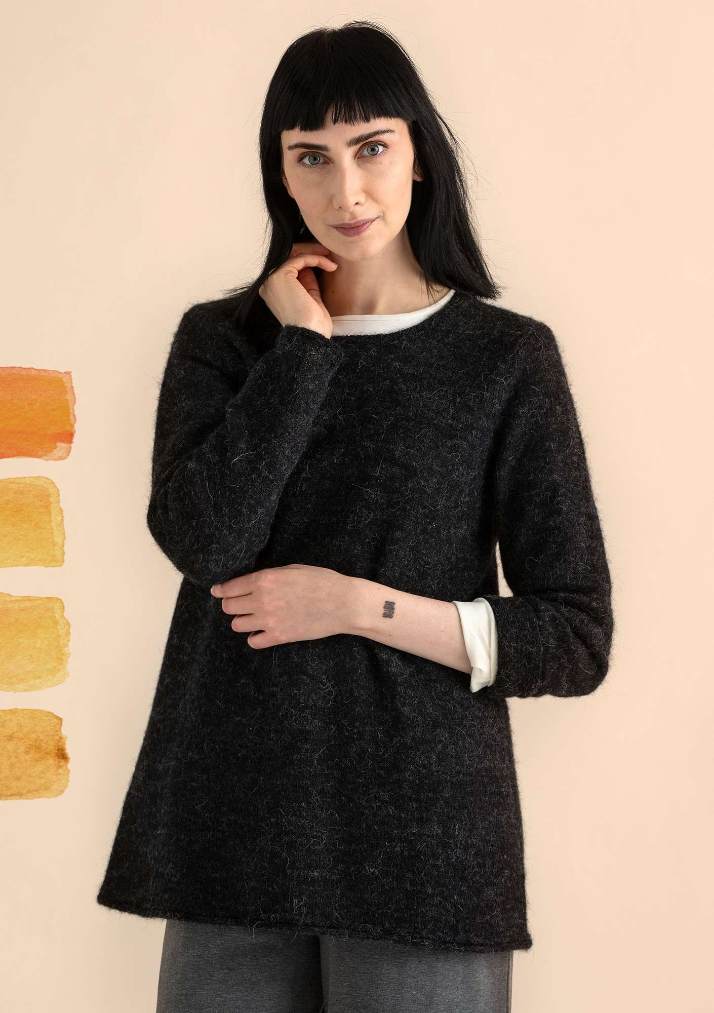 FAVOURITE alpaca-blend sweater nature black