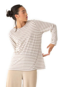 Essential striped sweater light potato/unbleached