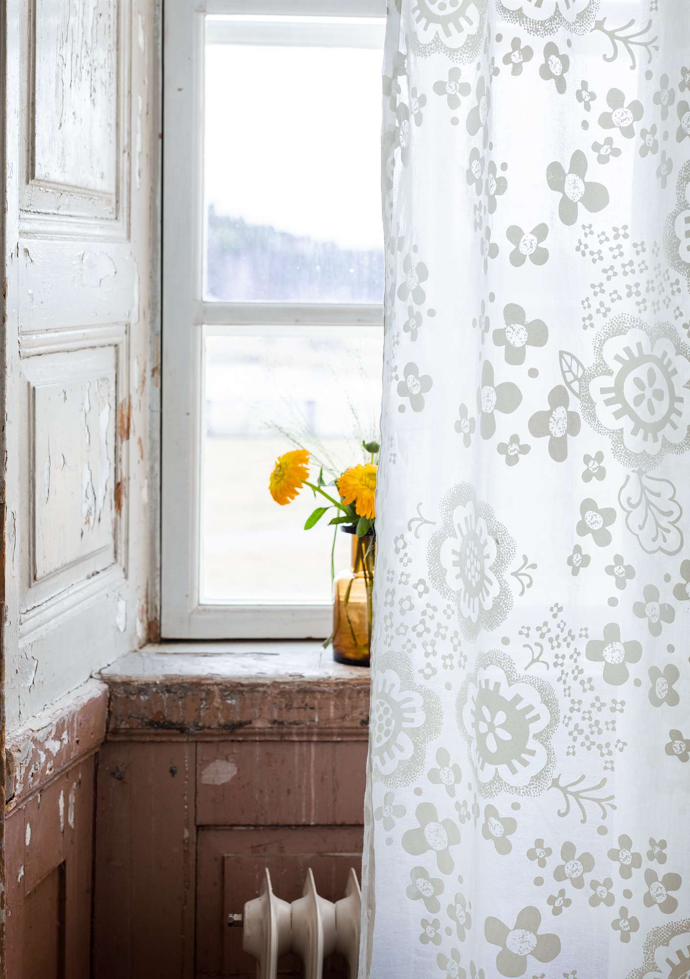 """Lizzie"" organic cotton curtains light ecru"